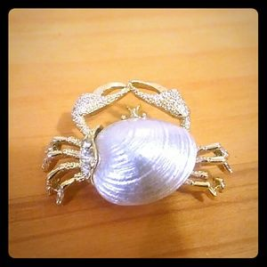 Vintage Gerry's Crab Brooch.